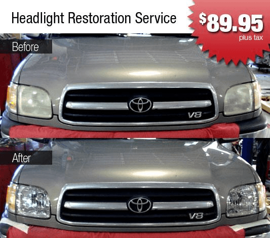 Headlight Restoration in Atlanta, GA at World Toyota Collision